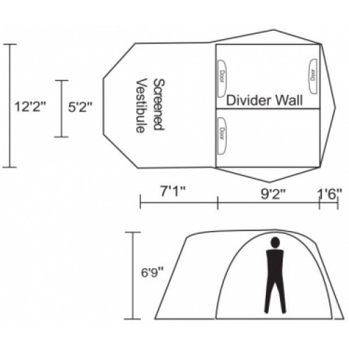 Tradewinds Guide 6 Person 3-Season Tent  sc 1 st  Outdoors Made Easy & Guide 6 Person 3-Season Tent
